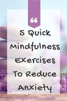 5 Quick Mindfulness Exercises For Anxiety - Taking Care Of You- Mindfulness activities for anxiety. Focus your mind and shift away from anxious thoughts with these 5 mindfulness techniques for anxiety. Mindfulness tips Mindfulness Exercises For Anxiety, Mindfulness Techniques, Mindfulness Activities, Mindfulness Practice, Mindfulness Quotes, Mindfulness Meditation, Mindfulness Podcast, Mindfulness Benefits, Emotions Activities