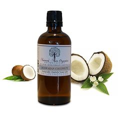 Hawaiian Coconut  100 Pure Aromatherapy Grade oil by Natures Note Organics 4 oz -- BEST VALUE BUY on Amazon #OrganicCoconutOil Organic Soap, Organic Coconut Oil, Amber Glass Bottles, Pure Oils, Oil Bottle, Massage Oil, How To Make Notes, Bath Salts, Fragrance Oil