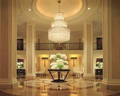 luxury hotel lobby - wilshire, beverly hills