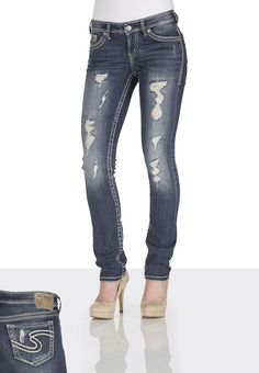 Love 'em! Silver Jeans Co. ® Aiko Destructed Jeans - maurices.com