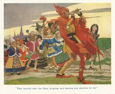 Artist Unknown, Early 20th century illustration for The Pied Piper from an Ephemera Grab Bag on Fairy Tales.