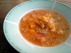 Currys vöröslencse leves savanyukaposztaval