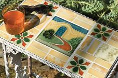 What to do with old Tiles   Photo: Kristine Larsen | thisoldhouse.com | from How to Create a Vintage Tile Tabletop