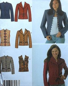 Jacket and Vest Sewing Pattern