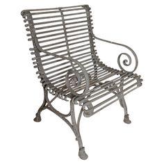 1stdibs.com | 1930's English Painted Iron Garden Chair
