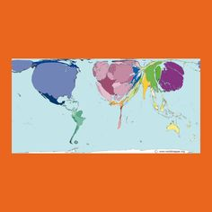 Carte du Monde selon le PIB #BanqueSYZ Pib, 2013, Diagram, Private Banking, Yearly, Worldmap