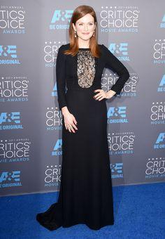 Julianne Moore in Saint Laurent. Photo: Alberto E. Rodriguez/Getty Images Critics' Choice Movie Awards 2015
