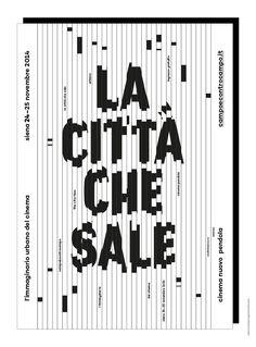Canefantasma, La città che sale / The city rises (poster, 2014 – rejected)