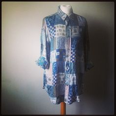 Vintage overized abstract shirt for sale