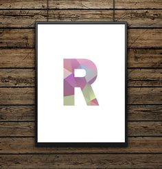 Affiche Illustration Lettre R