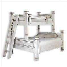 Doppelstockbetten, Etagenbetten Queen Size, Weiße Etagenbetten,  Selbstgemachte Schlafzimmerdeko, Schlafzimmer Ideen