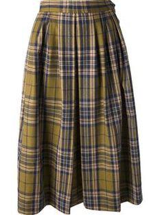 Yves Saint Laurent Vintage Checked Skirt - Dressing Factory - Farfetch.com
