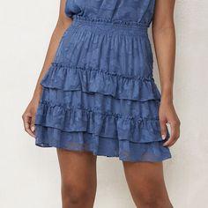 Grad Dresses, Summer Dresses, Figure Flattering Dresses, Denim Flares, Womens Size Chart, Fashion Sewing, Lc Lauren Conrad, Smocking, Mini Skirts