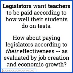 If legislators received merit pay, as they've suggested teachers should receive, not only would those officials not earn a penny - they would have to pay the government because they are utter failures at their 'job'.