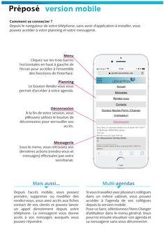 Un document présentant l'interface mobile de Préposé accessible depuis n'importe quel smartphone, sans installer d'application