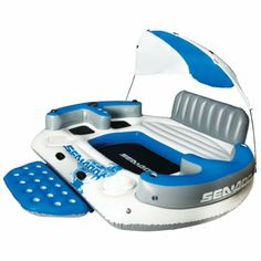 Sea Doo Dream Island Floating Lounge - Overton's. 6 person lake float. Love the cabana and two built in coolers.