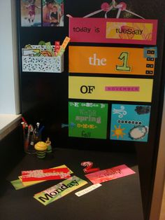 cute preschool calendar! made with stuff around the house! diy