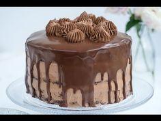 chocolate cake nutella chocolate glaze birthday layer cake