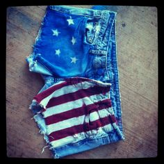 Flag shorts that I made!!