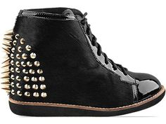 Jeffrey Campbell Edea Spike in Black Leather