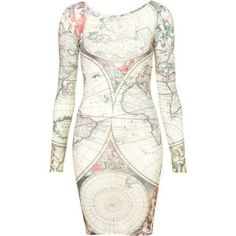 Atlas Map Dress By Tee and Cake.  $64 @topshop.com
