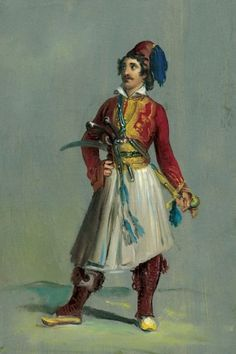 Franz Ludwig Catel (1778-1856)-Study of a Greek Soldier, 1820-25