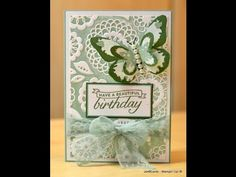 Painted Embossing - JanB UK Stampin' Up! Demonstrator Independent - YouTube