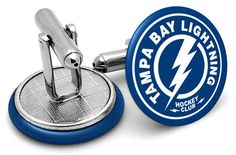 These Tampa Bay Lightning Cufflinks are dashingly great and the blue and white face of these cufflinks will add the perfect splash of color to. Tampa Bay Lightning, Color Splash, Cufflinks, Blue And White, Nhl, Google Search, Paint Splats, Wedding Cufflinks
