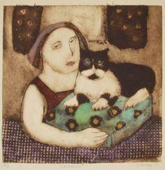 Companion Collagraph by Nichola Slattery...#cat