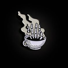 Wake up the dead enamel pin https://manierenoireshop.com/collections/all/products/wake-up-the-dead-enamel-pin