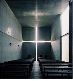 Tadao Ando's infamous church of light. truly a stunning space.
