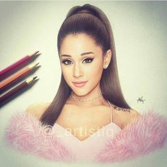 Ariana grande drawing... Beautiful drawing...wow