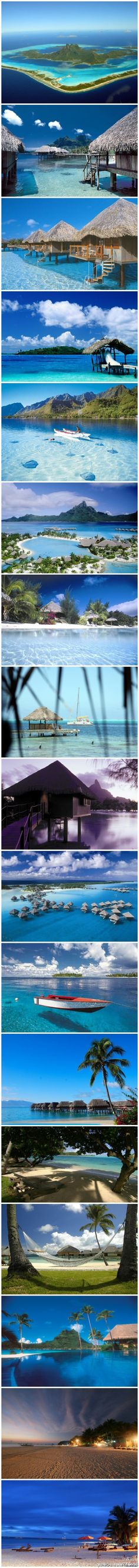 The Best Shots of Bora Bora Tahiti,it is easy to go there from USA.amazing place for your honeymoon,Only heaven could be as beautiful! Vacation Places, Dream Vacations, Places To Travel, Places To See, Travel Destinations, Holiday Destinations, Dream Vacation Spots, Honeymoon Spots, Honeymoon Ideas