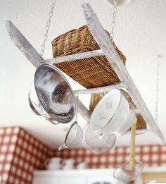 Creative Upcycled Kitchen Pot Racks