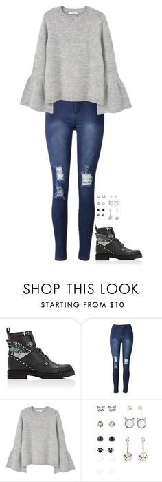 """""""Lug-sole ankle boots"""" by mayalexia ❤ liked on Polyvore featuring Fendi and MANGO"""