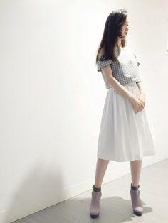 yukiさんのシャツ/ブラウス「JILLSTUART カラーハウンドトゥースブラウス」を使ったコーディネート