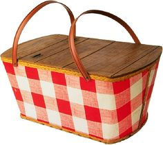 Red and White Gingham Picnic Basket Picnic Time, Summer Picnic, Summer Fun, Picnic Parties, Picnic Bag, Beach Picnic, Lunch Time, Vintage Picnic Basket, Picnic Baskets