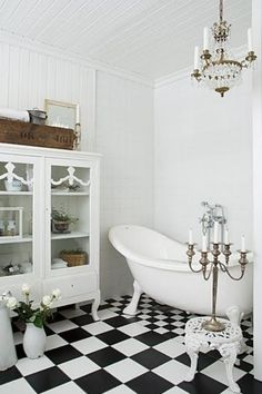 Browse our inspiring bathroom tile ideas gallery comprised afterward highly developed bathroom tile designs and pretty tile colour schemes in each style and budget to get a sense of what you want for. Black White Rooms, Black And White Interior, Black And White Tiles, Simple Bathroom Designs, Bathroom Tile Designs, Bathroom Ideas, Bathroom Interior, Shower Ideas, Bad Inspiration