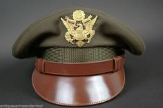 "US WWII Army ""Crusher Style"" Officer's Cap Mint Original"