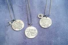INSPIRATIONAL CHARM NECKLACES - CHOOSE FROM 3 STYLES  Fun Charm Necklaces With Snippets Of Inspiration.  STARTING AT    81% OFF