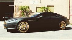 Matte Aston Martin with golden rims by levi_kress