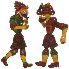 Ottoman Figures /Hacivat and Karagoz
