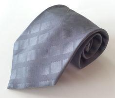 Barcelona Cravatte Neck Tie Gray Geometric 100% Polyester Microfiber #BarcelonaCravatte #NeckTie