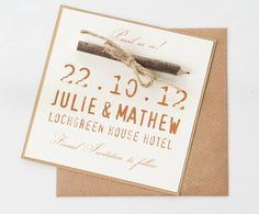 'pencil us in' save the date card by phil rao studio two | notonthehighstreet.com