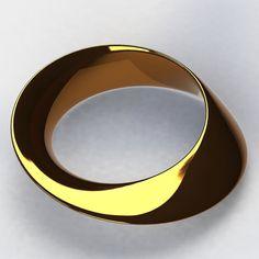 Möbius Strip Ring  #mobius #mobiusstrip #art #sacredgeometry #jewelry #3D #3dprinting #design #preciousmetals by sacred_tribe