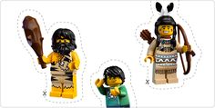 Free Lego Mini Figure Printable Stickers
