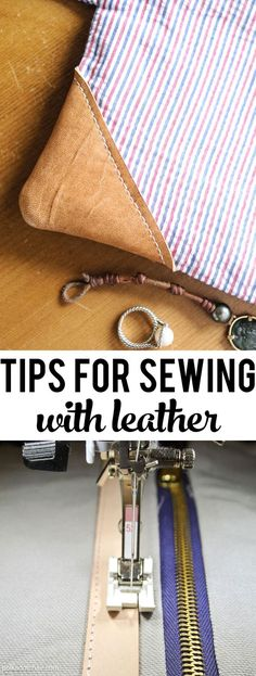 Simple tips and tricks to help get you started sewing with leather on your home sewing machine. [ad]