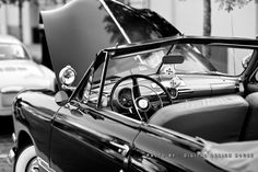 This is a classic vintage Ford convertible at the Eustis Cruise In. This is a once a month event in Eustis Florida .