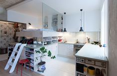 Love the industrial touch and the way they equipped this small space. - HB6B by Karin Matz