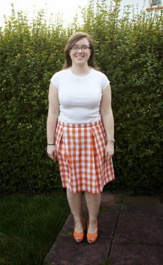 Gingham box pleated skirt - Handmade by Rebekah Box Pleat Skirt, Box Pleats, Pleated Skirt, Gingham, Skirts, Handmade, Vintage, Style, Fashion